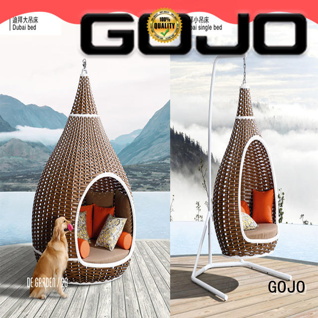 GOJO customized balcony furniture bed for holiday hotels