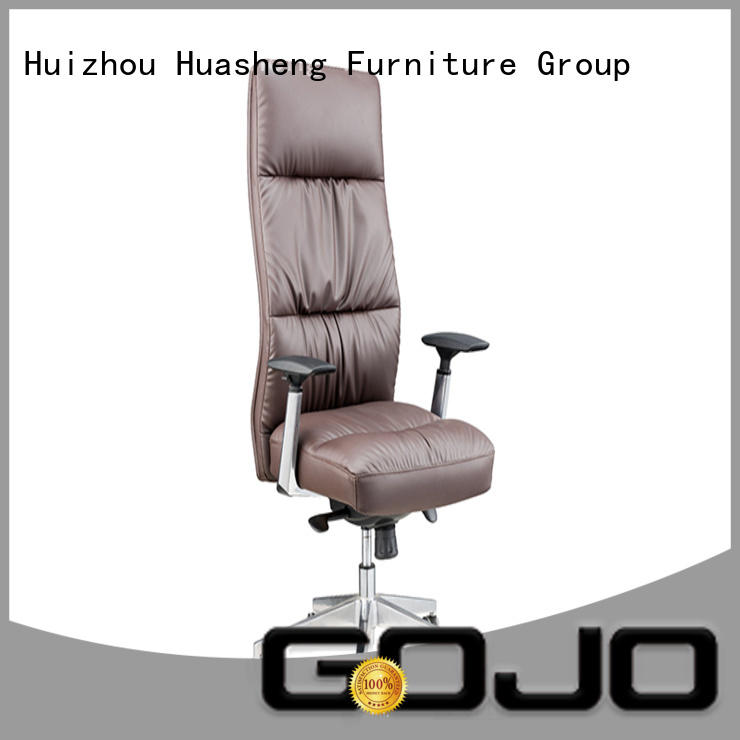 GOJO black best leather office chair cowhide for boardroom