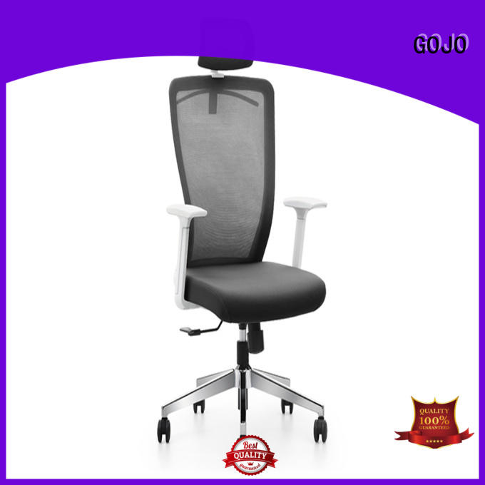 cowhide executive office chair with lumbar support with lumbar support for executive office GOJO