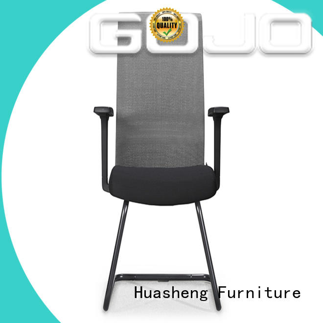 GOJO leather conference room chairs with casters for executive office