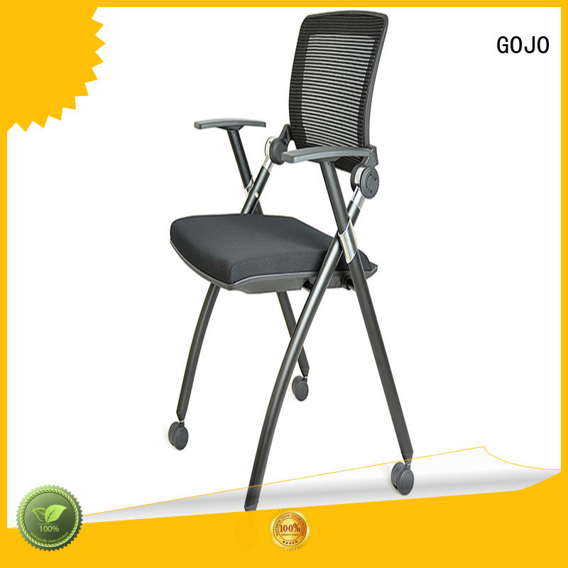 GOJO stackable white office chair leather for ceo office