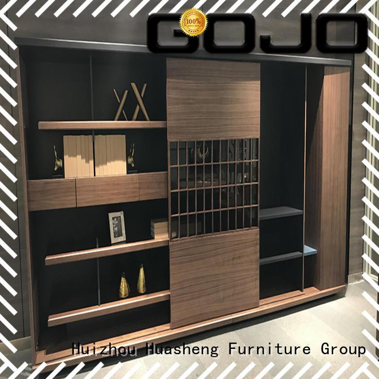 GOJO decorative bookcase cabinet with door for storage