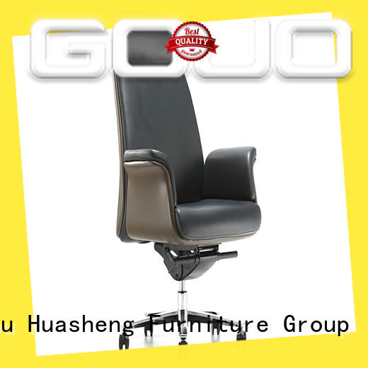 namy leather office chairs for sale with five-star movable foot for executive office GOJO
