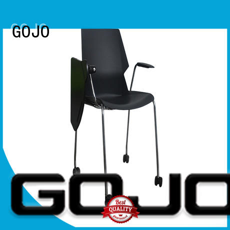 GOJO pc round lounge chair with casters for guest room