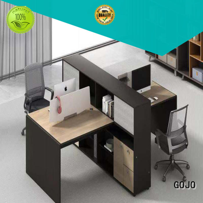 stylish office staff table with side lock drawer for clerk area GOJO