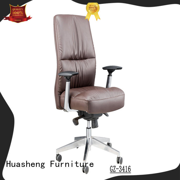 GOJO executive office chair with lumbar support with new white paint feet for boardroom
