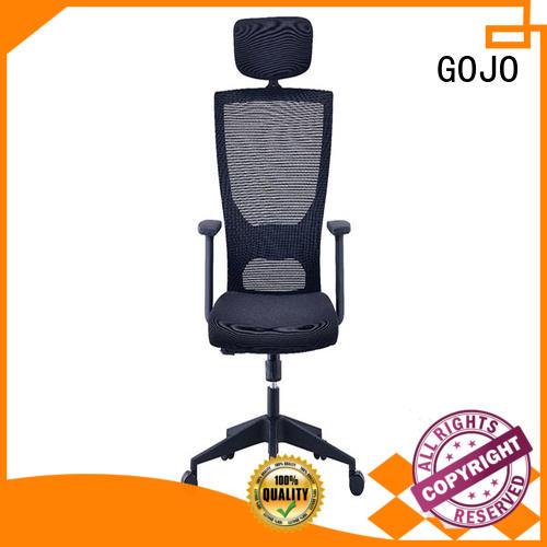 GOJO ergonomic executive chair with aluminium alloy feet for ceo office