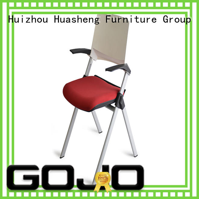 GOJO stackable meeting room chairs with casters for training area