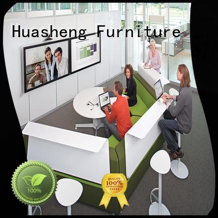 leather reception desk furniture sofa for lounge area GOJO
