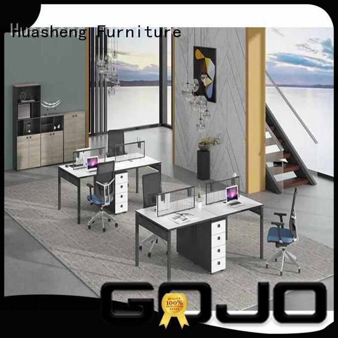 GOJO oak brown office table manufacturer for clerk area